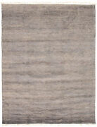 Modern Hand-knotted Carpet 8'1 X 10'6 Grey Wool Area Rug