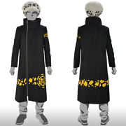 One Piece Trafalgar Law New World Ver. Coat And Hat Men's M Size Free Shipping New
