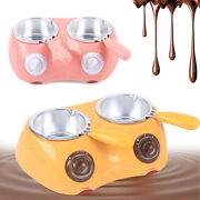 Chocolate Melting Candy Chocolate Heating Electric Pot With 2 Removable Pots