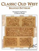Classic Old West - 15 Tracing And Carving Leather Billfold Patterns By Jim Linnell