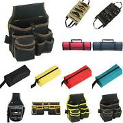Electrician Pocket Belt Kit Tools Organizer Carry Pouch Case Wrench Spanner Bag