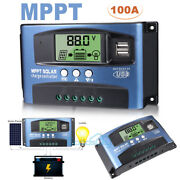 100a Mppt Solar Panel Regulator Charge Controller Auto Focus Tracking 12/24v