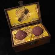 Chinese Rare Collection Old Temple Collection Luminous Relic + Box 夜光 舍利子