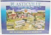 Bachmann 45612 O Plasticville Trailer Park With 3 Trailers And Flag Pole With Flag