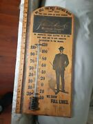 1910 9x21 Antique Wood Advertising Thermometer Jewish Clothier Schloss Baltimore
