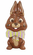 5and039 Brown Milk Chocolate Bunny Rabbit Resin Statue Easter Prop Spring Display