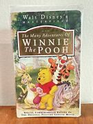 The Many Adventures Of Winnie The Pooh - Masterpiece Vhs 1996 Disney