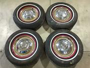 1960 Studebaker Hawk 15 Wheel Set With Tires Cornell 1000 A/s 205/75r15 X4