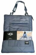 Ugg Mischa Quilted Outdoor Throw Blanket Beach Picnic Camping In Blue Plaid New