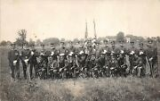 Wwi 1913 Rppc Real Photo Postcard Soldiers Uniforms Rifles Ohio Division S Of V