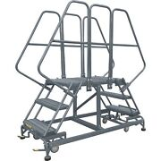 Ballymore Rolling Work Platform Overall Height 86 In Steps 5 Cap 800 Lb