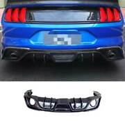 2-outlet Dry Carbon Fiber Rear Diffuser Lip Spoiler For Ford Mustang 2018-2021