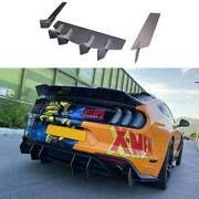 Competition Dry Carbon Fiber Rear Diffuser Lip Spoiler For Ford Mustang 2018-21