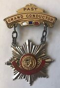 Odd Fellows Ioof Past Grand Conductor Medal California 1964 Sterling Silver