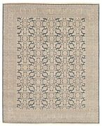 Vintage Geometric Hand-knotted Carpet 8and0390 X 9and0398 Traditional Wool Area Rug