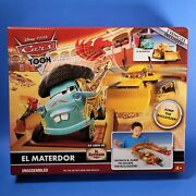 Disney Pixar Cars Toon El Materdor Launcher Play Set With Chuy New In Box