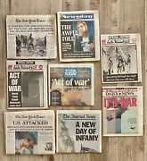 Lot Of 8 Newspapers September 12 And 13 2001 9/11 Ny Times Daily News Post Etc