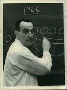 1966 Press Photo Footballand039s Tom Cahill West Point Coach Diagrams Plays