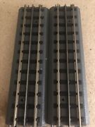 """Mth Realtrax Solid Rail 10"""" Straight Track - 6 Sections"""