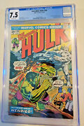 Hulk 180 1st App Of Wolverine In Cameo Cgc Graded 7.5 Off-white Pages