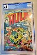 Hulk 180 1st App Of Wolverine In Cameo Cgc Graded 7.5 Ow To White Pages