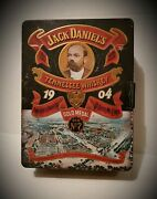 Vintage Large 1904 Old No.7 Time Jack Daniels Tennessee Whiskey Tin Box