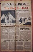 1977 Tupelo Mississippi Daily Journal Elvis Presley 'the King Is Dead' Newspaper