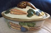 Louisville Stoneware Lou12 Covered Casserole Rabbit And Vegetables