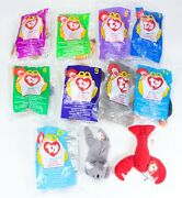 9 + 3 Free 12 Ty Beanie Babies Mcdonalds 1998 Ultra Rare Retired Collectables