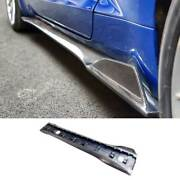 Dry Carbon Fiber Exterior Door Panel Trim Side Skirts For Ford Mustang 2015-21
