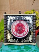 Collectible Timer Wall Hanging Analog Clock With Wooden Frame Need Restoration