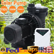1.2kw Dc Solar Swimming In/above Ground Spa Pool Pump Brush-less Motor 27,000l/h