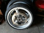Suzuki Sv650 2003 Oem Front And Back Rims W/michelin Radial Used Tires.