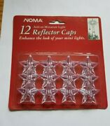 Vintage Noma Clear Star Mini Light Covers Caps Reflectors Christmas Nos