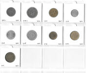 Morocco French Protectorate 50 Centimes - 50 Francs 1921-1952 Lot Of 9 Coins Ww1