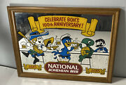 Vintage National Bohemian Beer 100th Anniversary 1885-1985 Mirror Glass Sign