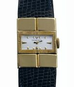 Authentic And Co Vintage 40s Ladies 14k Yellow Gold Watch By C.h.meylan