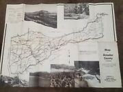 1949 Map Of Amador Co Ca Illustrated Printed Photographs Silver Lake Turkey Farm