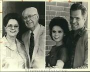 1982 Press Photo Marie Osmond Joseph Bottoms Star As Olive And George Osmond