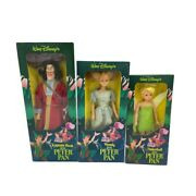 Vintage Disney Sears Dolls Peter Panandrsquos Captain Hook Wendy Tinkerbell 1980and039s Nib