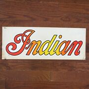 Indian Motorcycles - Vintage Original Multi-color Large Decal - 7 X 19
