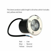 3w 120v Led Inground Recessed Garden Buried Light For Pathway Patio 3000k 6500k