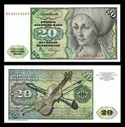 Germany 20 Mark 1980 P-32d Banknote Pre Euro