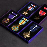 Wwii Ww2 Full Set Of 5 Star Defense Department Distinguished Service Medal Repro