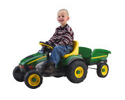 Kids Ride On Toy John Deere Farm Tractor And Trailer Pedal Outdoor Riding Toys
