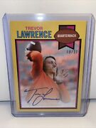 2021 Topps X Trevor Lawrence Rookie Auto /10 On Card Yellow Parallel 1979 Gem 🔥