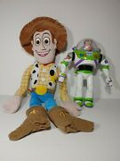 """Toy Story Woody 24 Doll And Talking Buzz Lightyear And 12"""""""