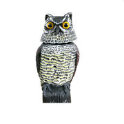 Owl Decoy 360° Rotate Head Sound Shadow Control Repel Pest Home Decoration Gift