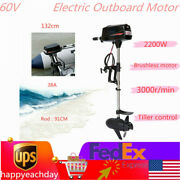 60v 2200w Electric Outboard Motor Fishing Boat Engine Brushless Motor 3000r//min