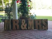 Mr. And Mrs. Sign Tennessee Aged Barn Wood-wedding Farm House Home Decor 57 X 14